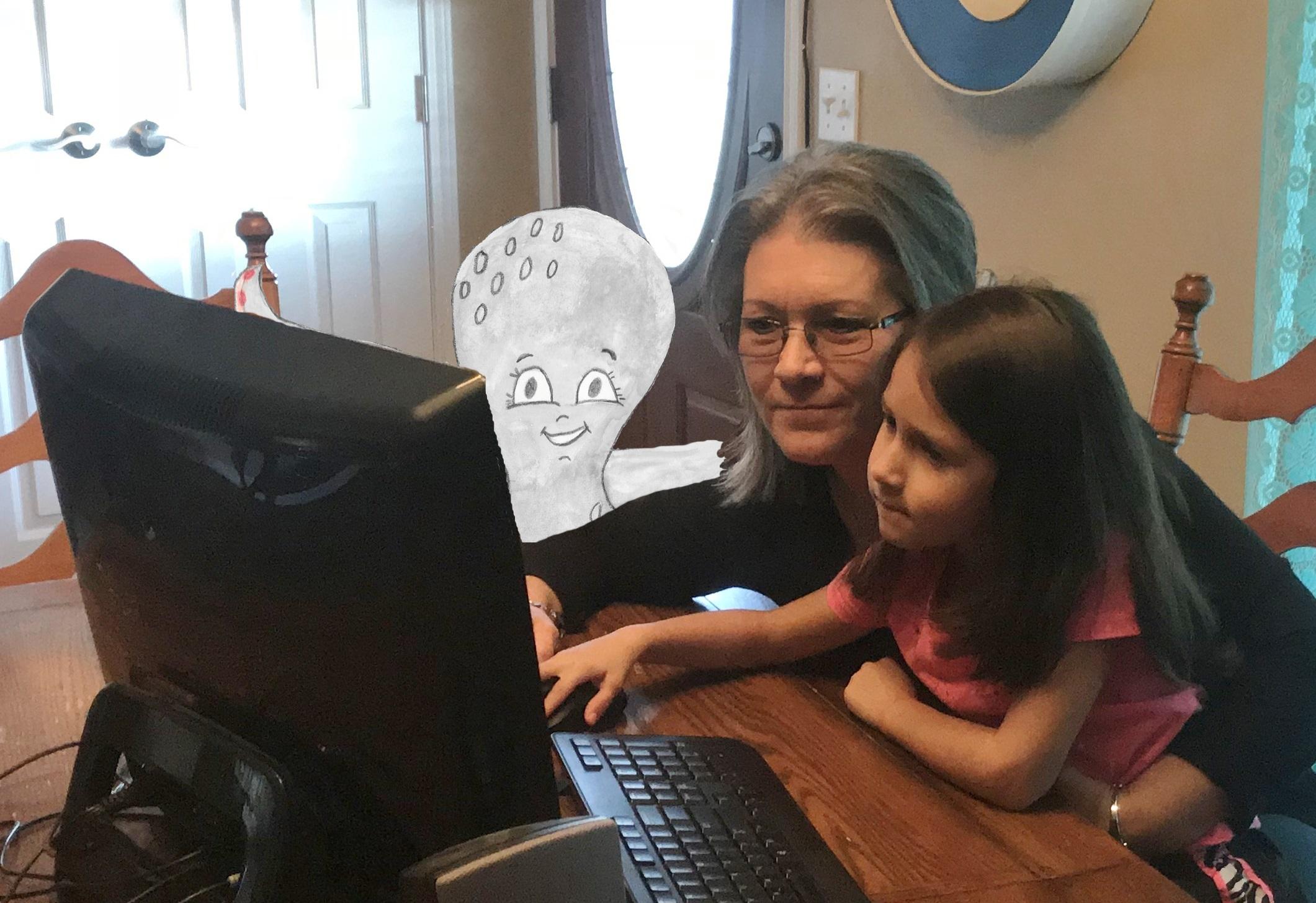 Story at computer